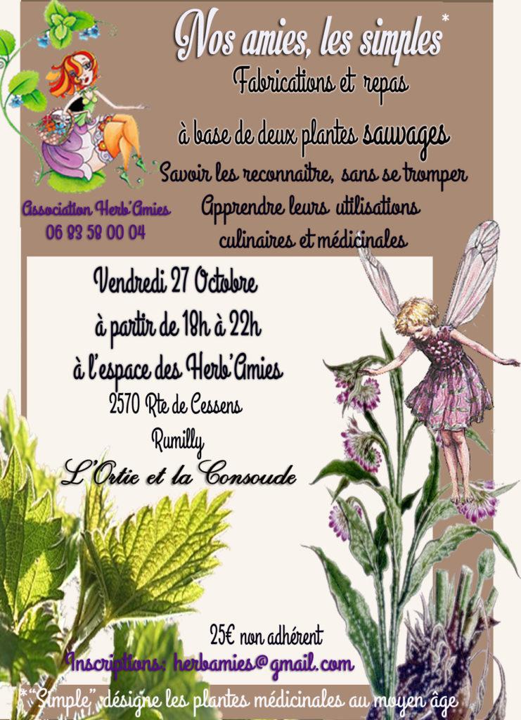 animation plantes sauvages en Haute Savoie